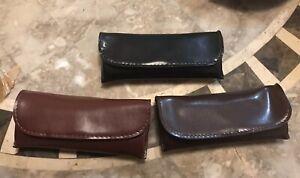 Soft Eyeglass Pouch Eyewear Case Black/Brown/Burgundy