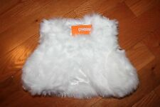 NWT Gymboree Holiday Shine Size 5-6 Cream White Faux Fur Vest Shrug