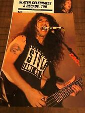 1992 Vintage 3Pg Print Article/Photo Slayer Celebrates A Decade, Too Kerry King