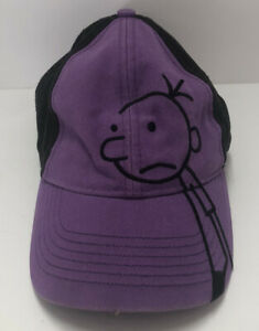 Diary Of A Wimpy Kid Purple & Black Baseball Cap Hat Youth One Size