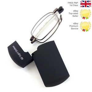 Genuine Foster Grants Sight Station Fold Up  Reading Glasses 2.00+ Strength