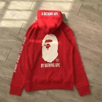 2018 Unisex Japan Hoodie Bape White Ape Head Fashion A Bathing Ape Red Hoodie
