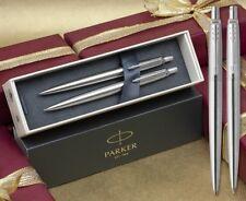 Parker Jotter Stainless Steel Ballpoint Pen & Pencil Set in Gift Box