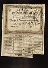 FRANCE FRENCH RAILWAY CdF Chemins de Fer d' Orleans a Rouen dd 1872 Paris