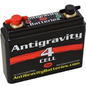 """ANTIGRAVITY 4-CELL LITHIUM MOTORCYCLE BATTERY 4.25"""" x 1.25"""" x 3.75"""""""