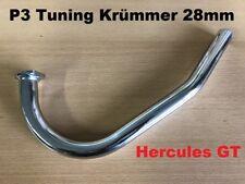 NEU P3 Flansch Anschluss Krümmer 28mm Hercules GX Prima GT Mofa 506 Auspuffrohr