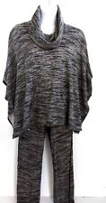 CALVIN KLEIN WOMEN'S XL/L Gray Cowl Neck Pullover Poncho and Pants Set Casual