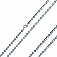 Cable Chain Necklace Hypoallergenic Silver Stainless Steel 3mm 15-22 inch