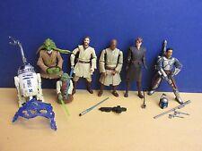 star wars CLONE WARS ACTION FIGURE lot SET kit fisto jango fett kenobi r2 d2 R62
