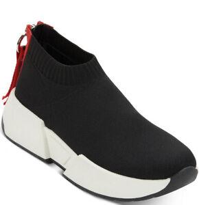 New Dkny Marcel sneakers red back zipper platform sock like slip on shoes women