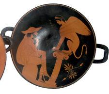Greek Kylix Vase Pottery Museum Replica Reproduction