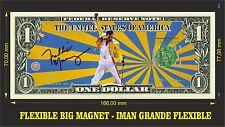 Freddie Mercury B Queen IMAN BILLETE 1 DOLLAR BILL MAGNET