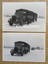 2 alte Fotos LKW Oldtimer 40/50iger Jahre
