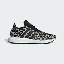 NEW Womens Adidas Swift Run Athletic Shoe Cheetah Leopard Carbon White Black 8