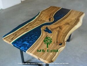 Custom Made Live edge Resin River Dining Table Top 72x36 inch In 35MM (Top only)