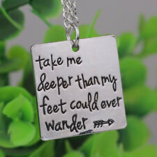 2017 New Arrival Etched Christian Oceans Song Lyrics Christian Pendant Necklace
