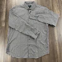 Rodd & Gunn Men's Long Sleeve Check Shirt Woven In Italy Size L Original FIT
