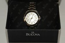 Bulova Two Tone Women's Dress Watch 98L166 - Stainless Steel Gold & Silver Band