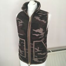 J Crew Womens Excursion Camo Camouflage Gilet Zip Down Quilted Jacket XXS 6 8