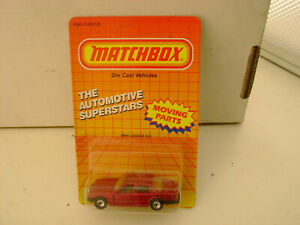 1987 MATCHBOX SUPERFAST MB 41 MAROON RED JAGUAR XJ6 NEW ON CARD