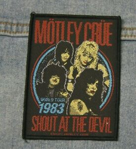 Motley Crue Shout at the devil  sew  on patch Official merchandise metal music