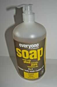 Everyone for Every Body Coconut + Lemon  3 in 1 Soap by EO Products 32 oz Bottle