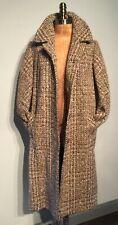 """Vintage 'Laure'  Brown 100% Irish Tweed Coat Loose fit 44""""bust"""