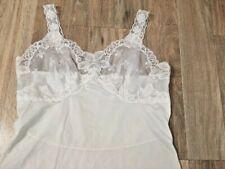 DRESS SLIP Vintage WONDERMAID Non Cling White Size 36 WOMENS CHEMISE NYLON USA