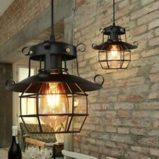 2x Deckenlampe Retro Metall Draht Vintage Industrielampe Retroleuchte E27 Käfig