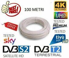 CAVO ANTENNA TV SATELLITARE TERRESTRE UTILIZZABILE PER SKY MATASSA 100mt 5MM