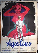 manifesto 4F originale AGOSTINO Mauro Bolognini Ingrid Thulin 1962 da Moravia