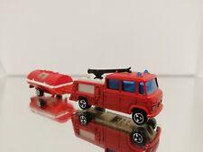 258 Majorette 1/70 Mercedes Benz Airoport Pompier Feuerwehr 21760