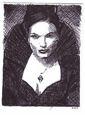 ACEO Sketch Card Lana Parrilla as Regina B from Once Upon A Time TV Series