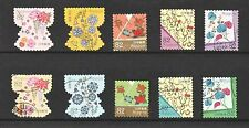 JAPAN 2017 TRADITIONAL DESIGN SERIES 2 (BOTANICAL MOTIFS) 82 YEN 10 STAMPS USED