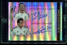 2015 Panini Donruss Soccer CRISTIANO RONALDO / GARETH BALE Autograph Auto /65
