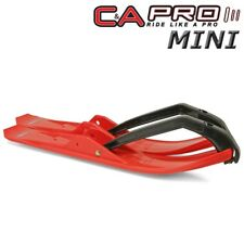 """C&A Pro MINI 4.75"""" Snowmobile Skis Red w/ Black Loops - 120 Watercross Drags"""