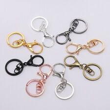 5pcs Lobster Clasp Key Snap Hook Split Ring For Jewelry Making Findings Keychain