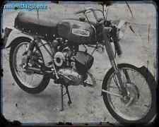 Aermacchi_Aletta_125 A4 Metal Sign Motorbike Vintage Aged