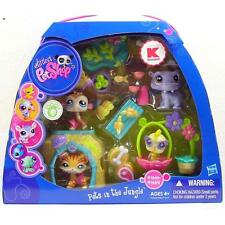 Littlest Pet Shop Pets In The Jungle HIPPO TIGER lot #1449 1450 1451 1452 NIB