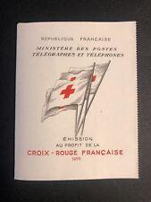 Carnet Croix Rouge 1952 n°2001 15fr+5fr bleu et rouge Neuf** parfait état