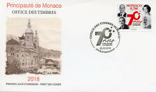 Monaco 2018 FDC Mongasque Red Cross 70th Anniv 1v Cover Medical Health Stamps