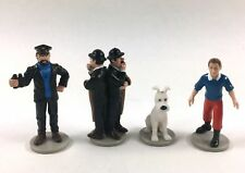 Figurine plastique Tintin Tintin, Milou, Le capitaine Haddock et les Duponts