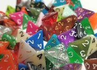 (50) Wiz Dice D4 Random Color Polyhedral Dice Set, 4 Sided Lot Gaming D&D RPG