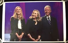 Multiple Signed Hillary Bill & Chelsea Clinton  2016 Presidential Rally Poster
