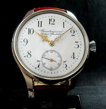 Beamtenfreund SYSTEME GLASHUTTE Antique 1900's Large Steel Watch Porcelain Dial
