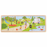Bigjigs Toys Wooden In The Park Tray Chunky Jigsaw Puzzle