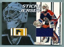 GRANT FUHR 2001/02 BE A PLAYER BAP BETWEEN THE PIPES GAME USED STICK JERSEY