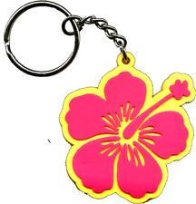 46012 Pink & Yellow Hawaiian Hibiscus Flower Lei Key Chain Fob Keychain Keyring