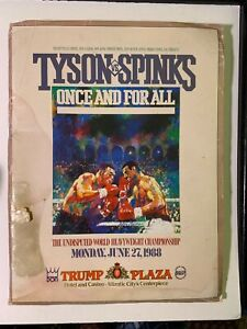 1988 Heavyweight Championship Mike Tyson Michael Spinks On Site Boxing Press Kit