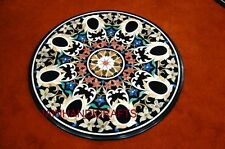 MARBLE DINING COFFEE 3'X3' CORNER CENTER ROOM ROUND TABLE TOP MOSAIC INLAY  k01